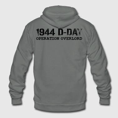 1944 D-Day Operation Overlord (Black) - Unisex Fleece Zip Hoodie