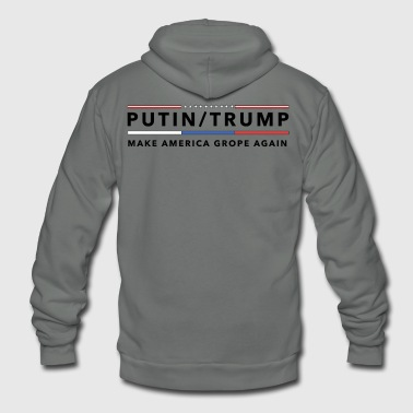 Anti Trump | Impeach the President | Vote For Dems Light - Unisex Fleece Zip Hoodie