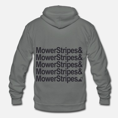 Lawn Mower Stripes - Unisex Fleece Zip Hoodie