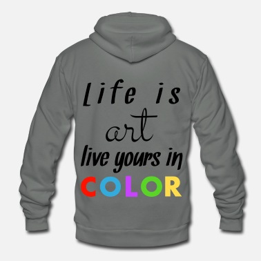 Color Color - Unisex Fleece Zip Hoodie