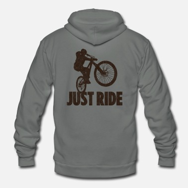 Mountain Bike Just Ride - Unisex Fleece Zip Hoodie