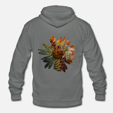 Picture Picture in picture - a daisy flower with a bee - Unisex Fleece Zip Hoodie