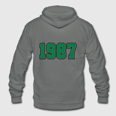 1987 | Year of Birth | Birth Year | Birthday - Unisex Fleece Zip Hoodie
