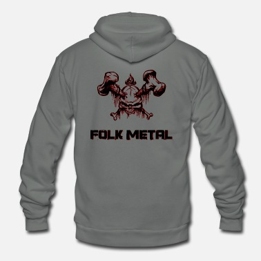 Folk folk metal - Unisex Fleece Zip Hoodie