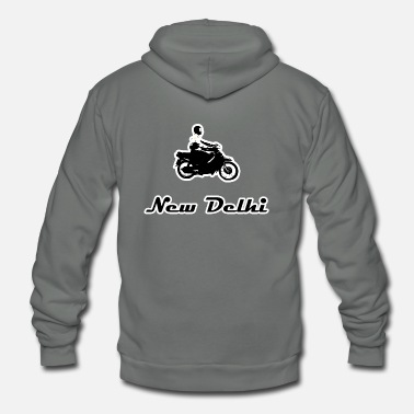 New Delhi New delhi india moped - Unisex Fleece Zip Hoodie