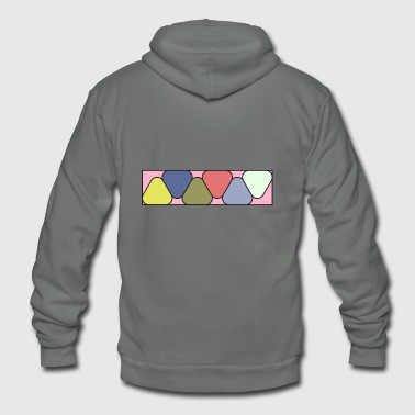 Colorful - Unisex Fleece Zip Hoodie