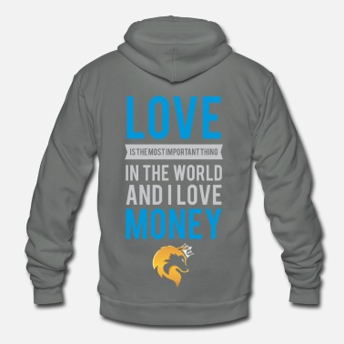 Cashkaa Clothing CashKaa: Love And Money - Unisex Fleece Zip Hoodie