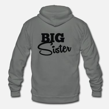 Big Sis BIG SIS - Unisex Fleece Zip Hoodie