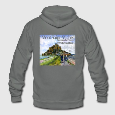 Mont Saint Michel Shirt - Unisex Fleece Zip Hoodie