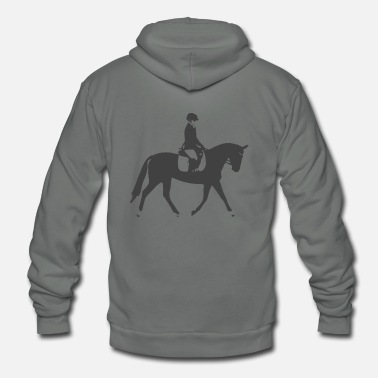 Dressage Black Dressage Horse - Unisex Fleece Zip Hoodie