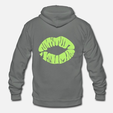 Kissing Lips kissing lips - Unisex Fleece Zip Hoodie