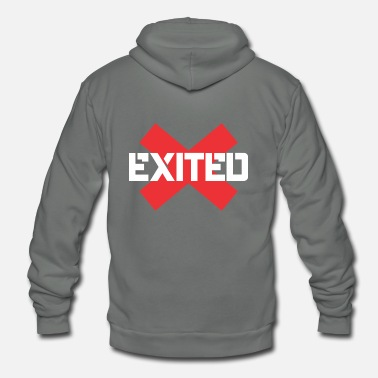 Exit Exited - Unisex Fleece Zip Hoodie