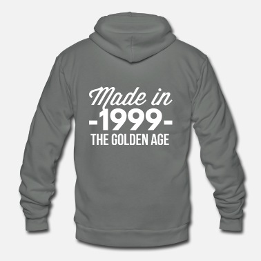 1999 Made in 1999 the golden age - Unisex Fleece Zip Hoodie