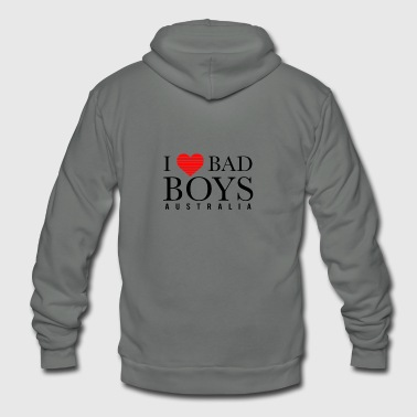 I LOVE BADBOYS - Unisex Fleece Zip Hoodie
