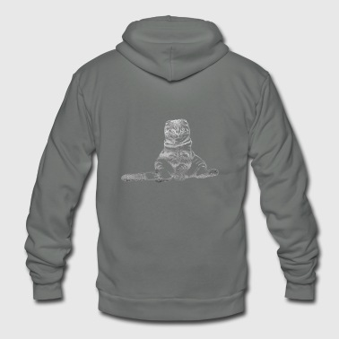 Sitting Cat - Unisex Fleece Zip Hoodie