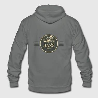 Jazz Music Gift for Jazz Fans - Unisex Fleece Zip Hoodie