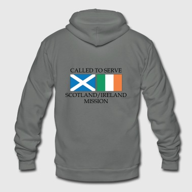 Mission Scotland Ireland LDS Mission Called to Serve - Unisex Fleece Zip Hoodie
