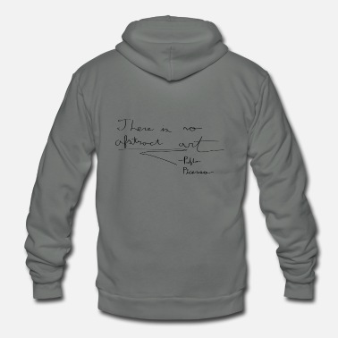 Quotes Picasso Quote - Unisex Fleece Zip Hoodie