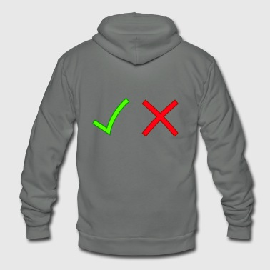 Check Mark check - Unisex Fleece Zip Hoodie
