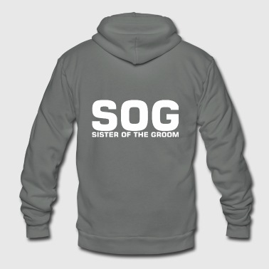 SOG Sister Of The Groom - Unisex Fleece Zip Hoodie