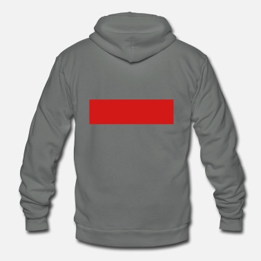 Quadrat Red Stripe Quadrat - Unisex Fleece Zip Hoodie