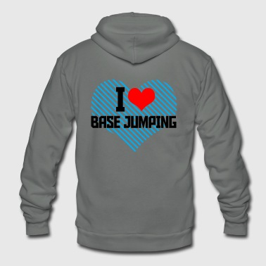 Jumping - i heart base jumping - Unisex Fleece Zip Hoodie