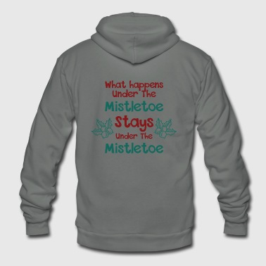 Blasen Mistletoe - what happens under the mistletoe sta - Unisex Fleece Zip Hoodie