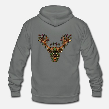 Forest Forest spirit deer - Unisex Fleece Zip Hoodie