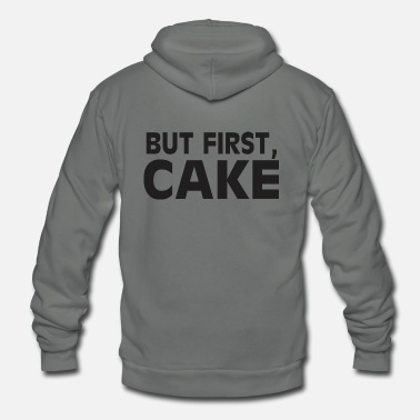 But First Cake - Unisex Fleece Zip Hoodie