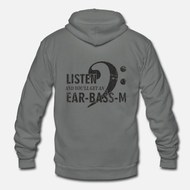 Ear Plugs listen ear bass mus bk gr - Unisex Fleece Zip Hoodie