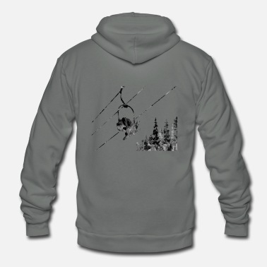 Ski Lift Couple ski lift, couple, ski sport, ski - Unisex Fleece Zip Hoodie