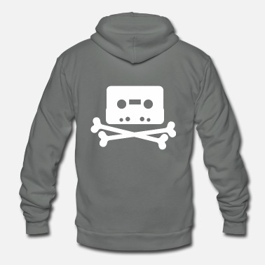 Cassette Cassettes and Bones - Unisex Fleece Zip Hoodie