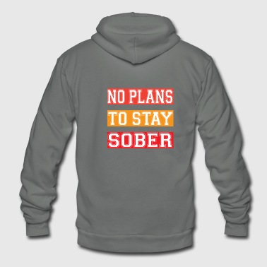 NO PLANS - Unisex Fleece Zip Hoodie