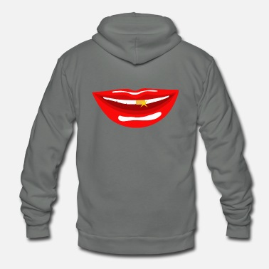 Mouth mouth - Unisex Fleece Zip Hoodie