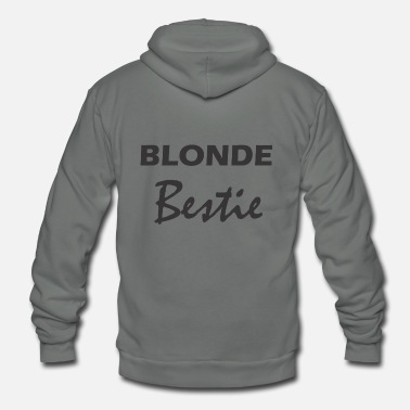 Blonde Blonde Bestie - Best Friend - Unisex Fleece Zip Hoodie