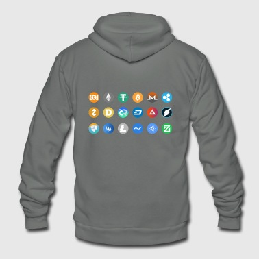 Kryptocurrency Pictogram - Unisex Fleece Zip Hoodie