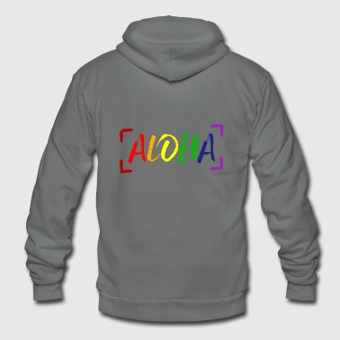 Aloha LGBT Gay Pride - Unisex Fleece Zip Hoodie