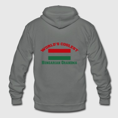 Hungarian - world's coolest hungarian grandma - Unisex Fleece Zip Hoodie