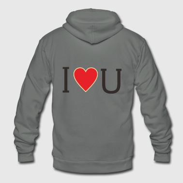 I LOVE U - Unisex Fleece Zip Hoodie