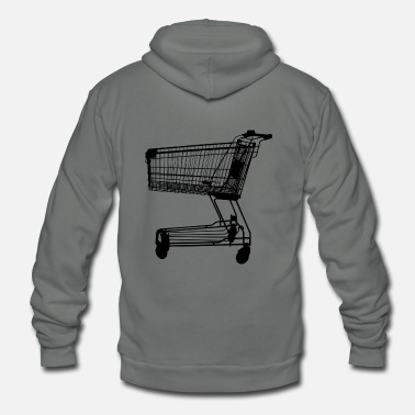 Shopping Cart shopping cart shop carton - Unisex Fleece Zip Hoodie