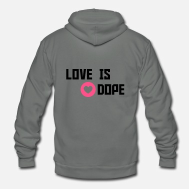 Cuore love is dope - Unisex Fleece Zip Hoodie