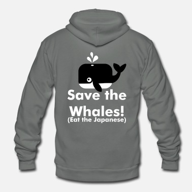Save save the whalest - Unisex Fleece Zip Hoodie