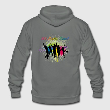 It's Party Time - Unisex Fleece Zip Hoodie