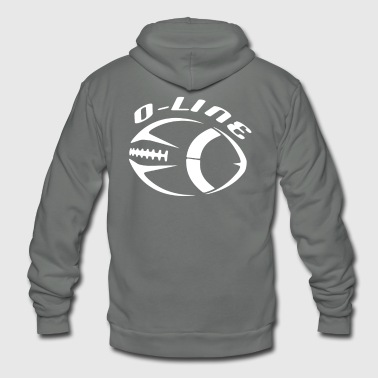 Football O Line Offensive Line Design - Unisex Fleece Zip Hoodie