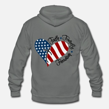 Freedom Faith, Family, Freedom - Unisex Fleece Zip Hoodie