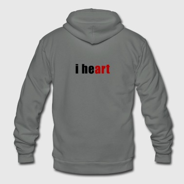 I Heart i heart Art Heart - Unisex Fleece Zip Hoodie
