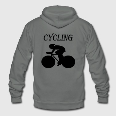 cycling - Unisex Fleece Zip Hoodie