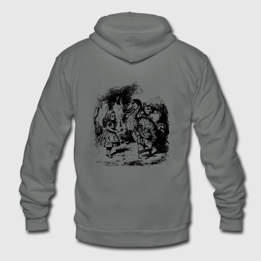 alice illustration printed art alice in wonderland - Unisex Fleece Zip Hoodie