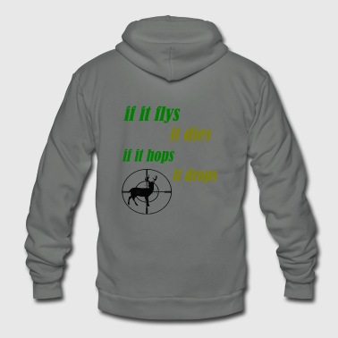 if it flys - Unisex Fleece Zip Hoodie
