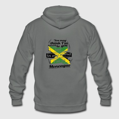 URLAUB jamaika ROOTS TRAVEL I M IN Jamaica Moneagu - Unisex Fleece Zip Hoodie